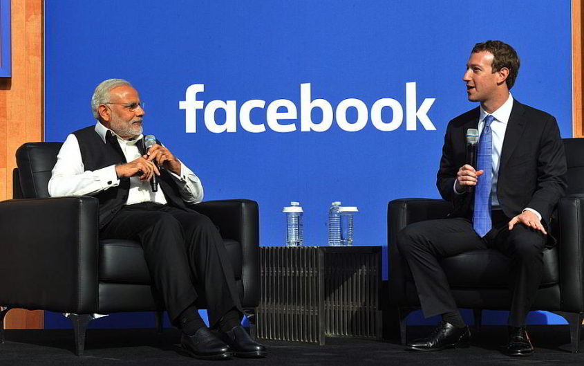 Mark Zuckerberg und Indiens Premierminister Narendra Damodardas Modi - von Narendra Modi (PM in US) [CC BY-SA 2.0 (http://creativecommons.org/licenses/by-sa/2.0)], via Wikimedia Commons