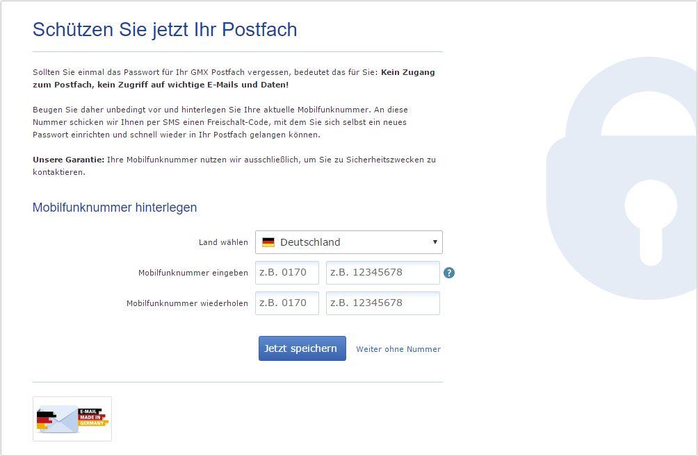 GMX.de - Schützen Sie jetzt Ihr Postfach