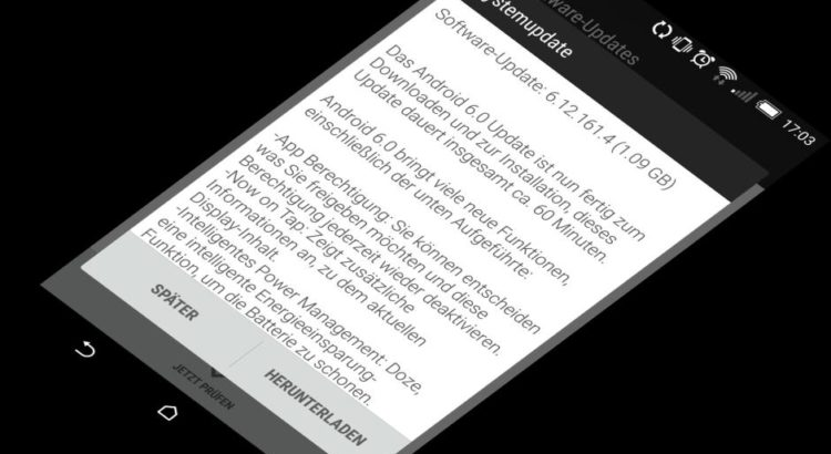 Das Marshmallow-Update für das HTC One M8