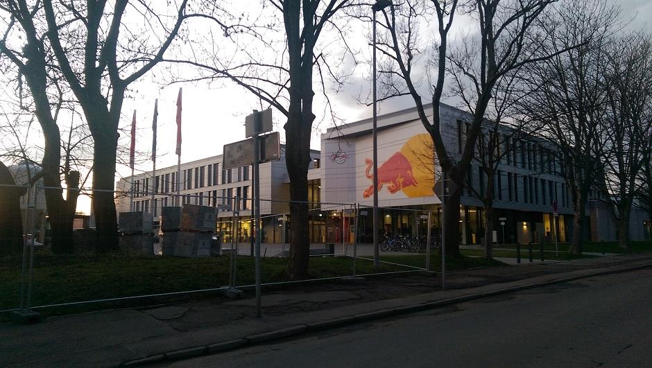 Die Akademie von RB Leipzig von außen