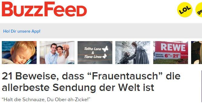 """buzzfeed.de - 21 Beweise, dass """"Frauentausch"""" die allerbeste Sendung der Welt ist"""