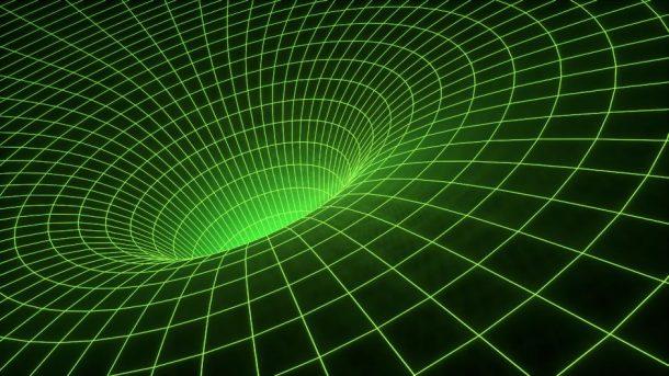 Grafische Darstellung eines Wurmlochs / eines Schwarzen Lochs - (C) JohnsonMartin CC0 via Pixabay.de