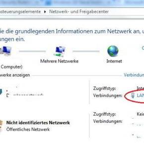 Netzwerk- und Freigabecenter