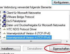 TCP/IPv4-Eigenschaften