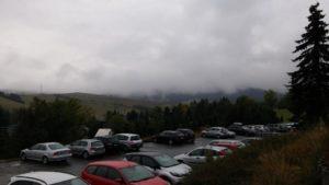 Nebel in den Bergen rund um Oberwiesenthal