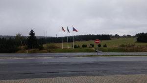 Die deutsch-tschechische Grenze bei Boží Dar