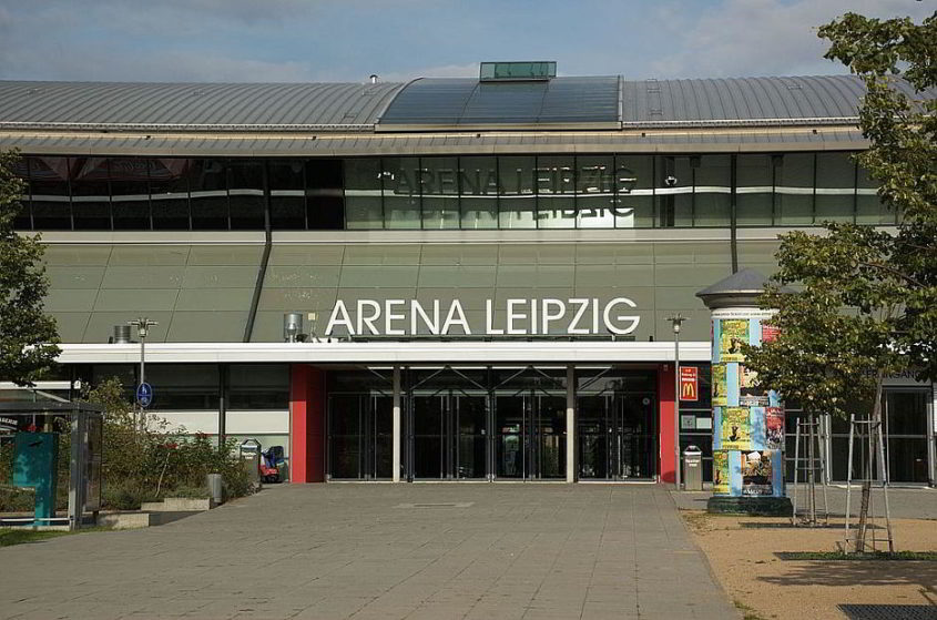 Die Arena Leipzig: Schauplatz von Bundesliga-Handball - By Christoph Müller (Own photography) [GFDL 1.2 (http://www.gnu.org/licenses/old-licenses/fdl-1.2.html)], via Wikimedia Commons