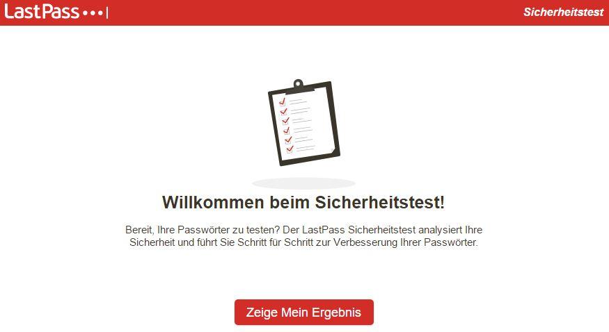 LastPass - Sicherheitstest