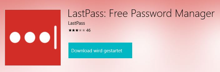 LastPass für Windows 10