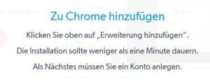 LastPass im Chrome hinzufügen