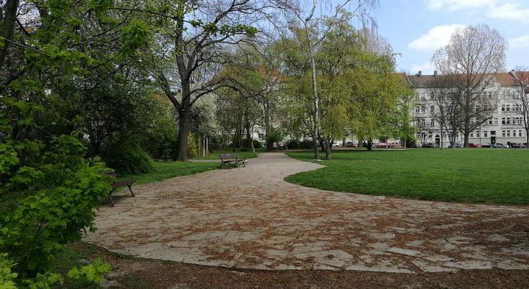 Gohlis-Mitte, nahe dem Coppiplatz eine kleine Wohlfühl-Oase