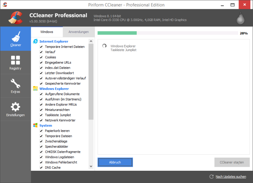 CCleaner - By Screenshot: Tim Schulz / CCleaner: Piriform (selbst erstellter Screenshot) [CC BY-SA 3.0 (http://creativecommons.org/licenses/by-sa/3.0)], via Wikimedia Commons