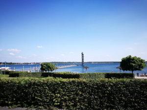 Die Goitzsche mit dem Pegelturm