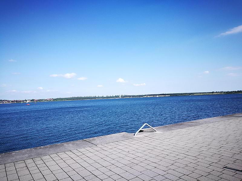 Blick über den Großen Goitzschesee