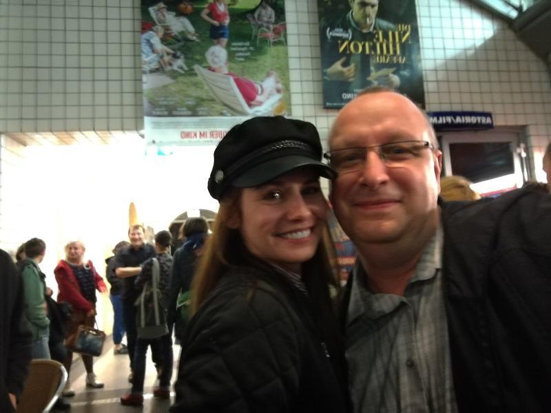 Josefine Preuß und ich nach dem Film