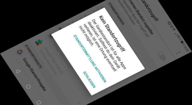 Android-Positionsdaten auf einem Huawei P9