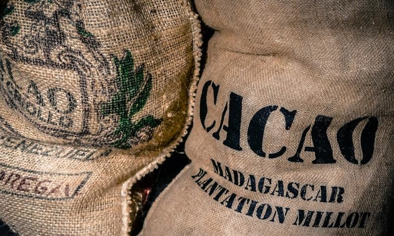 Ein Sack Fair Trade Kakao - (C) Skitterphoto CC0 via Pixabay.com - https://pixabay.com/de/beutel-kakao-fair-trade-2608928/