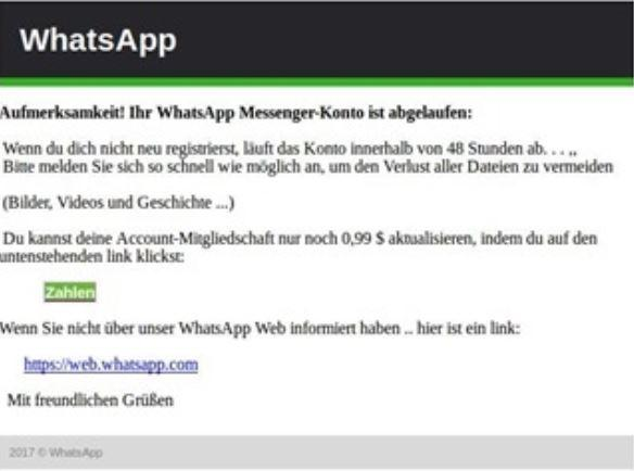 whatsapp abgelaufen neu
