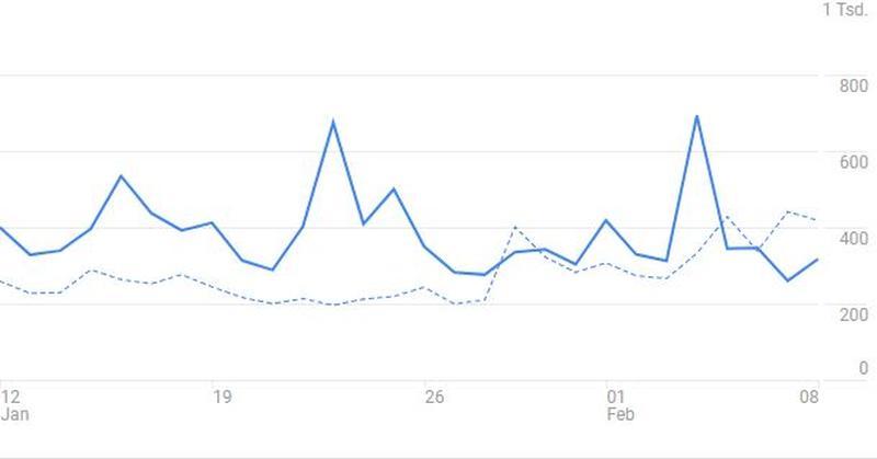 Google Analytics-Auszug für meine Seite