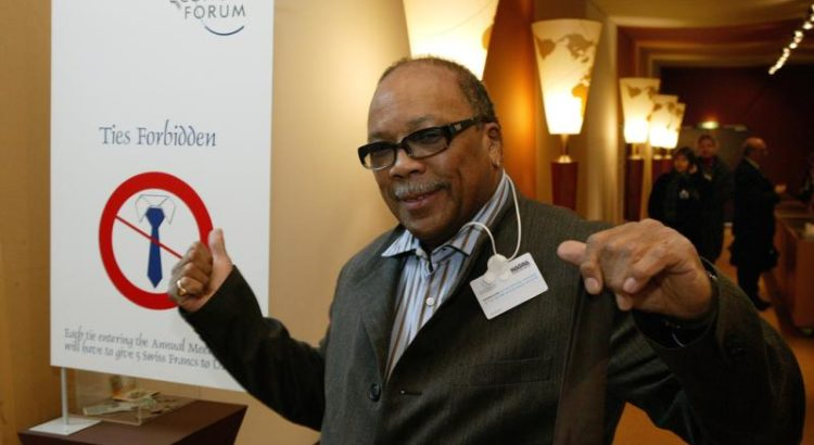 Quincy Jones, 2004 in Davos - By World Economic Forum from Cologny, Switzerland (World Economic Forum Annual Meeting 2004) [CC BY-SA 2.0 (https://creativecommons.org/licenses/by-sa/2.0)], via Wikimedia Commons