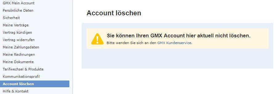 Einen Account bei GMX zu löschen, ist gar nicht so einfach