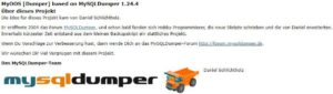 Informationen zum MyOOSDumper