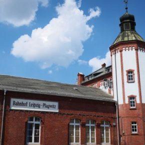Vorderseite des Bahnhofsgebäudes in Plagwitz