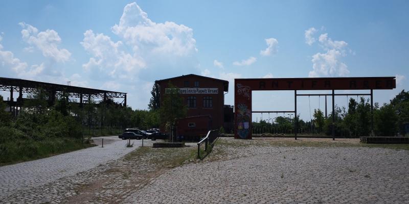 Der Güterumschlagplatz ist nun Spielplatz