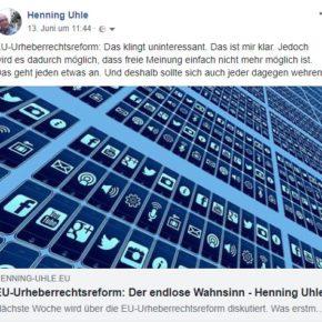Teaser auf Facebook: Artikelbild, klickbare Übeschrift und Anreißtext