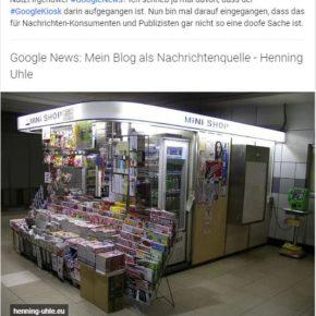 Teaser auf Google+: klickbare Überschrift und Artikelbild