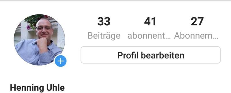 Kopf meines Instagram-Profils