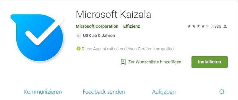 Microsoft Kaizala - Screenshot aus Google Play