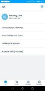 Microsoft Kaizala - Screenshot vom Profil in der App