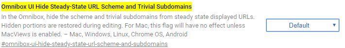 Einstellungen für die Omnibox im Google Chrome