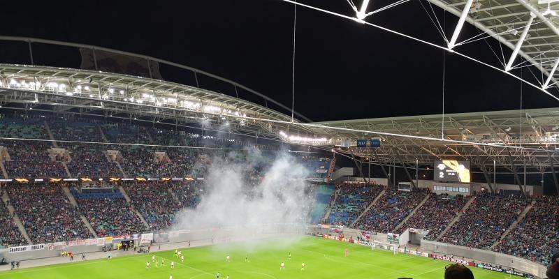 Die Fans von Celtic Glasgow hatten viel Pyrotechnik im Einsatz