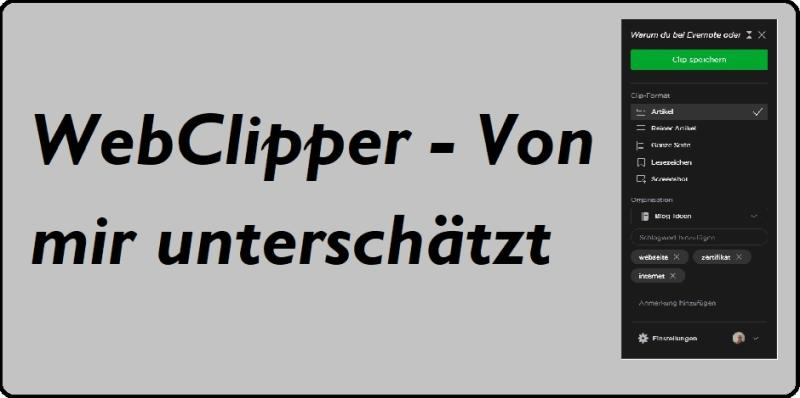 WebClipper von Evernote