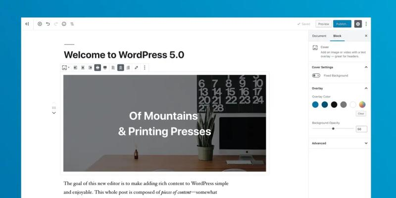 WordPress 5.0 kommt mit dem Gutenberg-Editor - (C) wordpress.org via WordPress.org