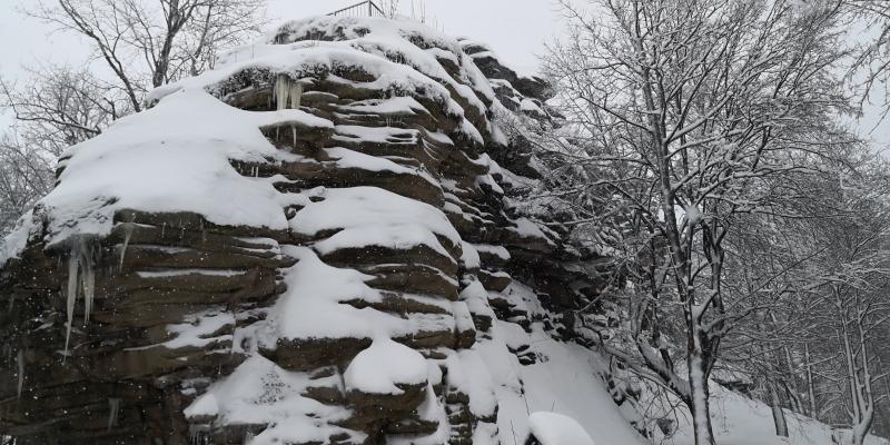 Ehrenfriedersdorf: Die Greifensteine im Schnee