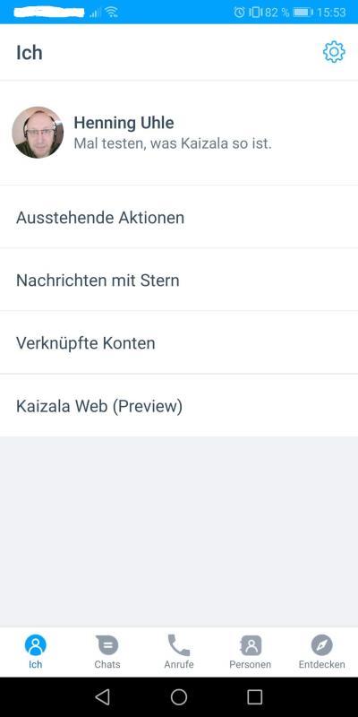 Das Profil in Microsoft Kaizala