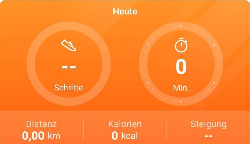 Der Schrittzähler der App Huawei Health erkennt nichts