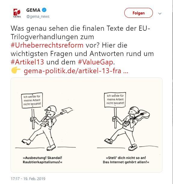 Artikel 13: Laut GEMA gibt es keinen Uploadfilter
