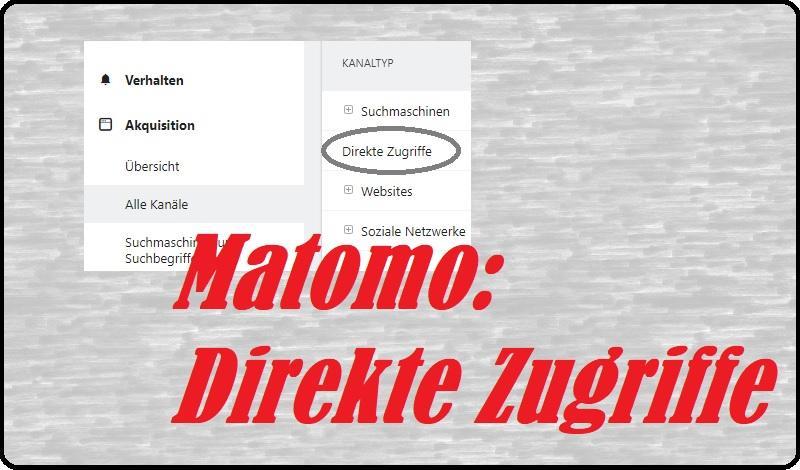 Direkte Zugriffe in Matomo
