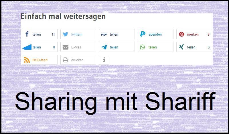 Sharing mit Shariff