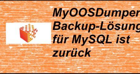 MyOOSDumper: Backup-Lösung für MySQL ist zurück