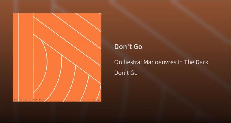 "OMD: ""Don't go"" - Screenshot von YouTube"