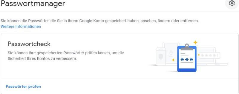 Der Passwort-Manager im Google Chrome