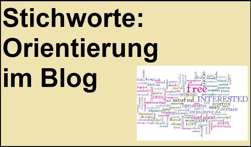 Stichworte: Orientierung im Blog - Bild von narciso1 auf Pixabay