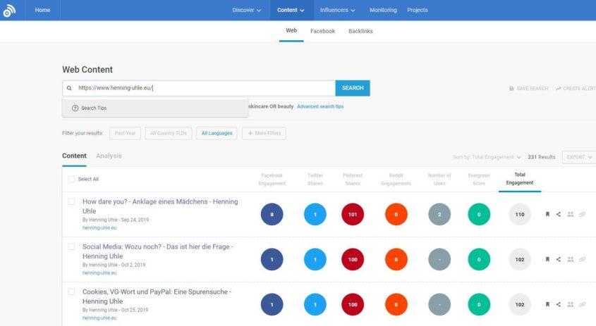 Blog-Audit: Welche Artikel funktionieren in den sozialen Netzwerken?