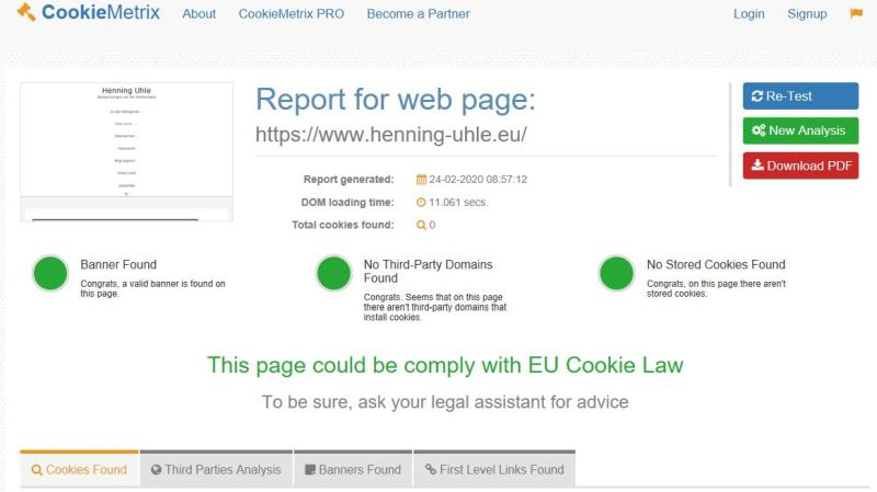 Cookie-Banner hin oder her: Hier scheint alles OK zu sein