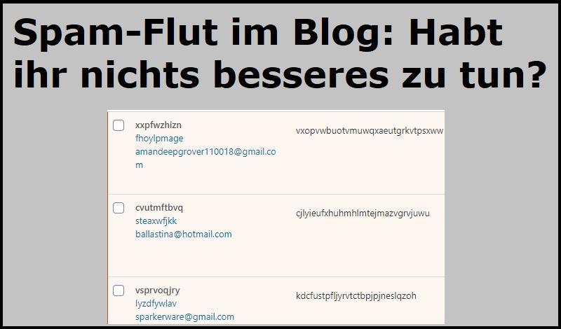 Spam-Flut im Blog: Habt ihr nichts besseres zu tun?